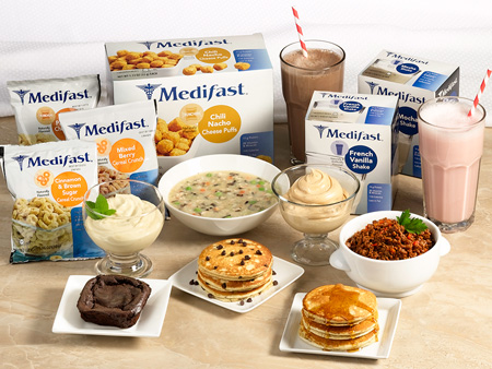 If this is your first time to order Medifast, this is a pretty cool option. You can choose from a 2-week or 4-week supply of food. You'll receive a big box with an assortment of various shakes, soups and oatmeals.
