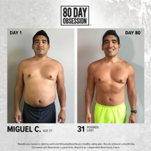 80 day obession weight loss results
