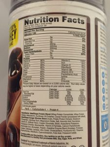 the nutrition facts for the chocolate idealshake