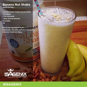 isagenix banana nut shake recipe