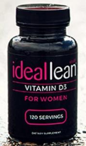 a bottle of ideallean vitamin d3