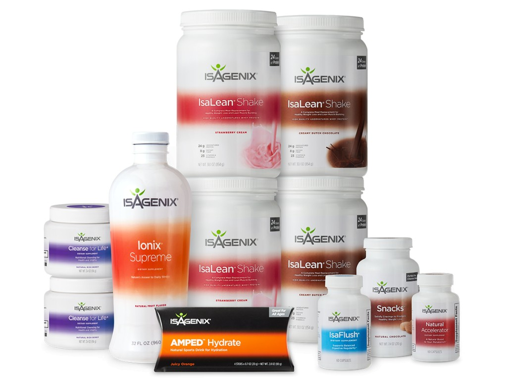 the full line of isagenix cleanse products