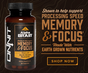 a bottle of alpha brain for memory and focus