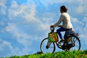 going for a bike ride is one way to get exercise after menopause