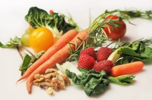 some healthy fruit and veggies