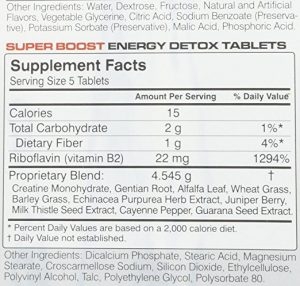 energy tablet facts