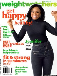 weight watchers magazine with jennifer hudson on the cover