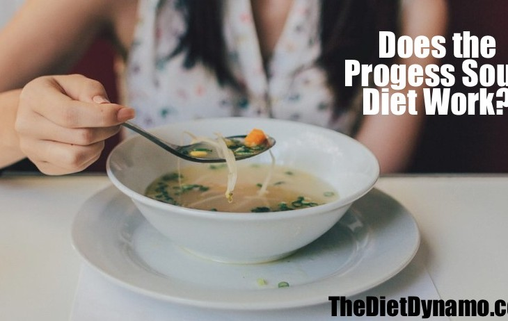 a woman eats a bowl of soup as part of a diet shes trying
