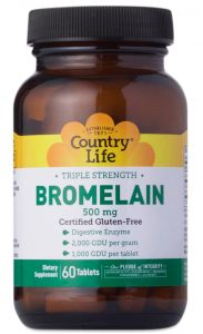 a bottle of country life Bromelain one of Thrive Markets best sellers