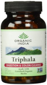 a bottle of triphala pills