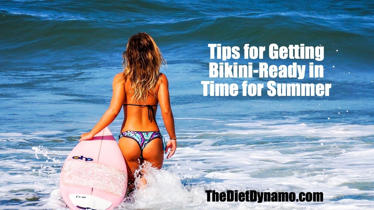 a girl gets bikini ready in time for summer