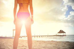 a woman who looks great in her bikini