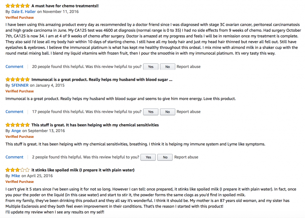 Immunocal reviews from amazon