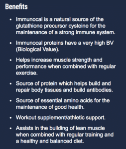 the full list of immunocal benefits
