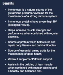 the full list of immunocal benefits