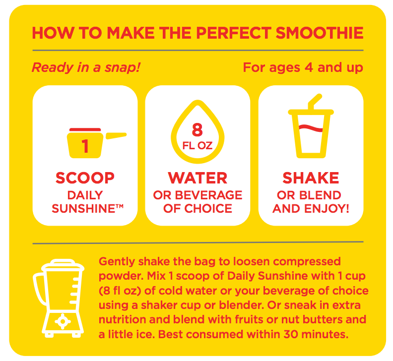 how to make the perfect daily sunshine smoothie
