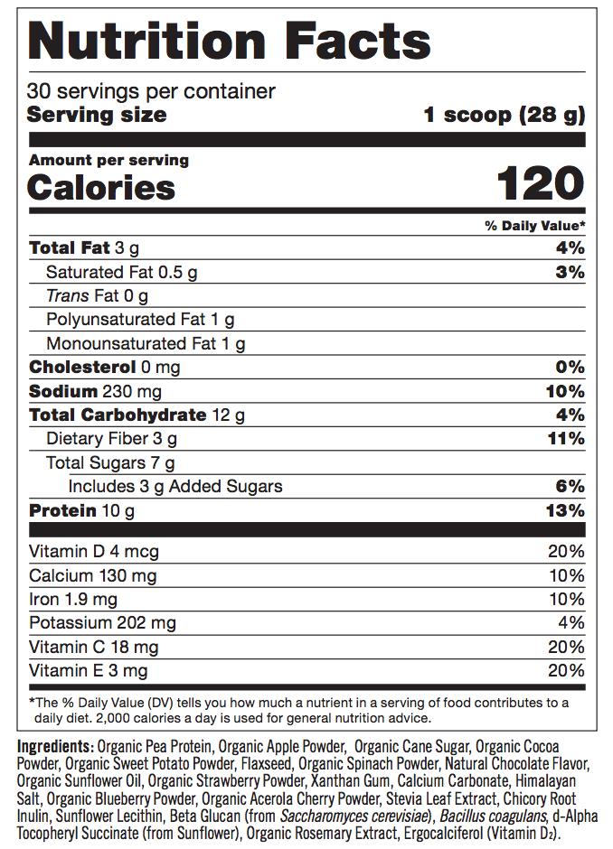 strawberry banana nutrition facts