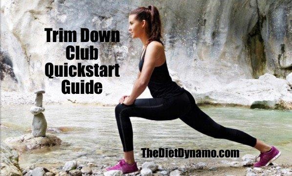 a woman follows the trim down club quick start guide