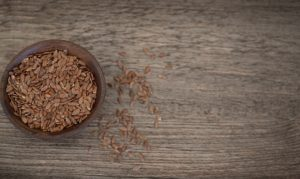 same flax seeds laying on the table