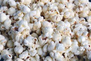 a big pile of popcorn