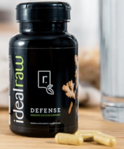 a bottle of idealraw defense