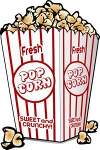 a carton of fresh popcorn