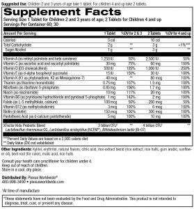 supplement facts and ingredient list