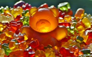 a big pile of gummy bears