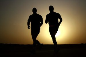 two men go for a run