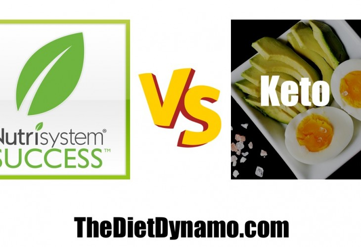 a comparison table of the ketogenic diet and nutrisystem