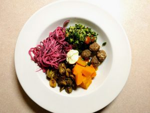 a plate of food based around the paleo diet plan