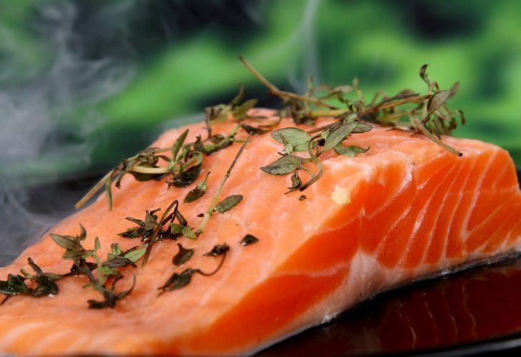 a salmon filet