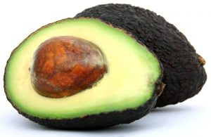 an avacado sliced in half