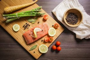 salmon makes a great high protein meal