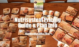 a table full of nutrisystem meals and snacks