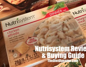 boxes of nutrisystem premade meals on displayed on the dinner table
