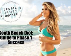 south beach diet ambassador jessie james decker poses on the beach