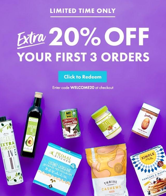 thrive market widget for 20 percent off