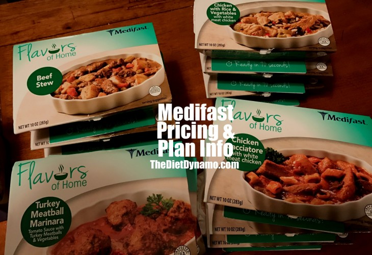 medifast frozen meals displayed on the table for our pricing guide