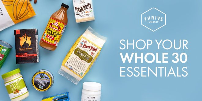 thrive market whole 30 products