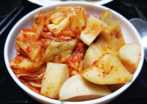 a bowl of spicy fermented kimchi