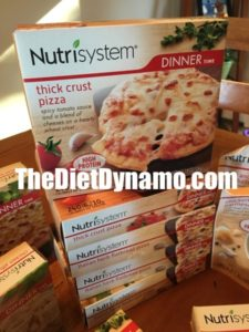 boxes of nutrisystem pizza on my dinner table