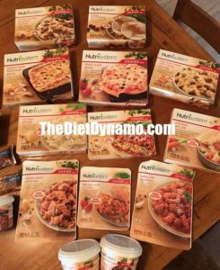 some of my favorite nutrisystem dinner on the table