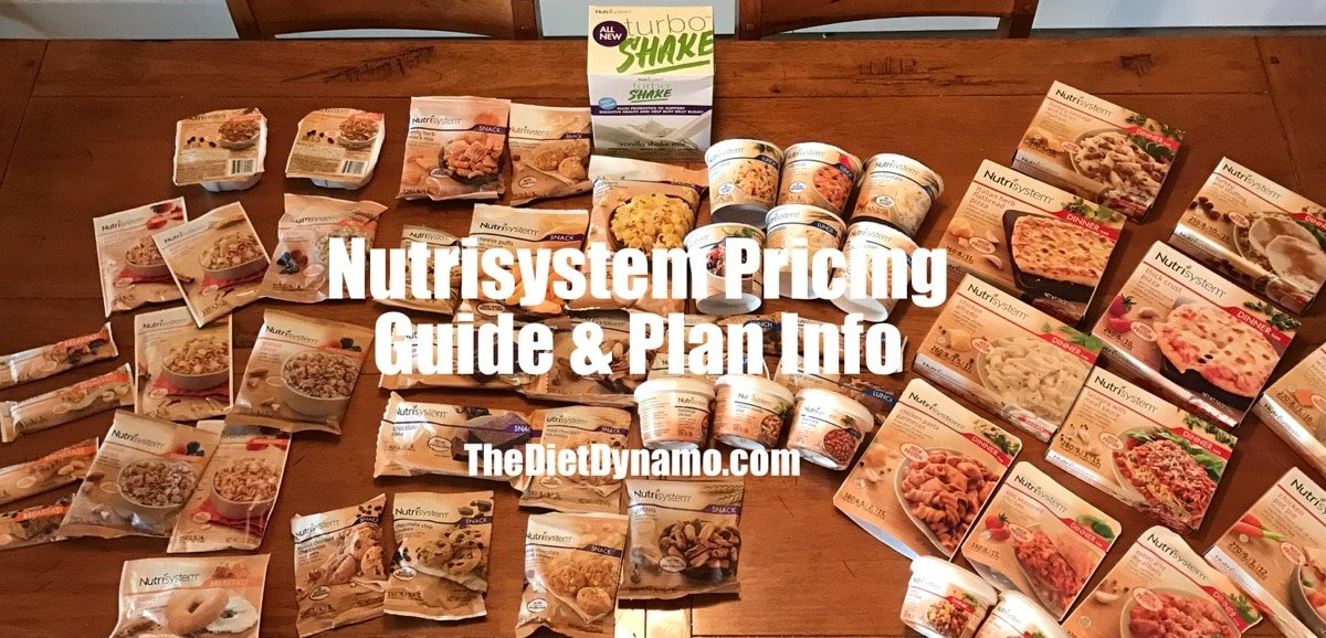 Nutrisystem cost for day, week, and month