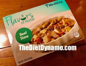 a box of beef stew from the flex plan