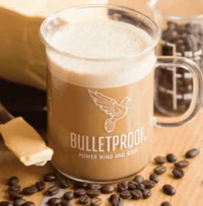 a cup of fresh made bullet coffee