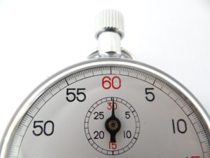 a stop watch used to time my fasting window