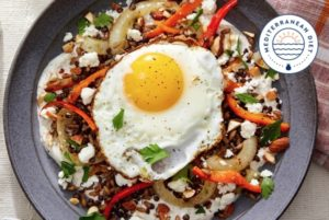 farro and lentil mujaddara