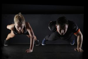 fitness partners working together to lose weight