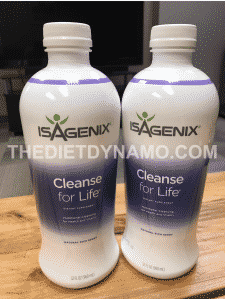 two bottles of isagenix cleanse for life